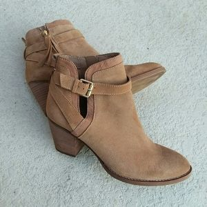SAM EDELMAN Tan Suede Ankle Boot 9